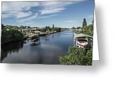 Port Charlotte Ackerman Waterway From Ohara Greeting Card