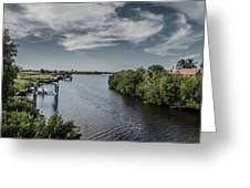 Port Charlotte Atlantus Waterway From Ohara Greeting Card