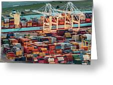 Port Of Oakland Aerial Photo Greeting Card