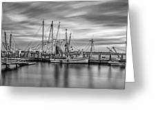 Port Royal Shrimp Boats Greeting Card