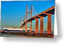 Port Traffic Greeting Card