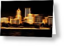 Portland Oregon Skyline  Greeting Card by Aaron Berg