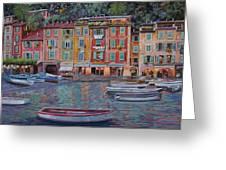 Portofino Al Crepuscolo Greeting Card