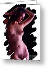 Portrait, Nude By Mb Greeting Card