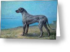 Portrait Of A Great Dane Greeting Card