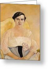 Portrait Of A Lady Boris Grigoriev Greeting Card