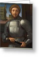 Portrait Of A Man In Armour Greeting Card