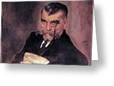 Portrait Of Aa Stahovich 1911 Valentin Serov Greeting Card