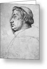 Portrait Of Cardinal Albrecht Of Brandenburg  Greeting Card