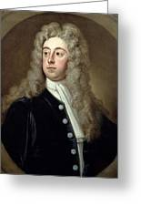 Portrait Of Francis 2nd Earl Of Godolphin 1678-1766 Sir Godfrey Kneller Greeting Card