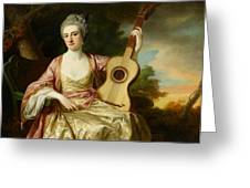 Portrait Of Maria Walpole Greeting Card