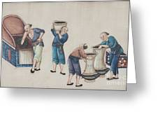 Portraying The Chinese Tea Industry Greeting Card
