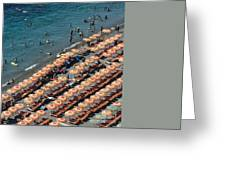 Positano Beach Greeting Card