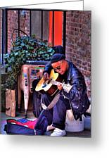 Post Alley Musician Greeting Card