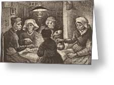 Potato Eaters, 1885 Greeting Card