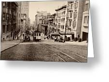 Powell Street Hill - San Francisco 1945 Greeting Card