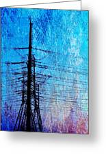 Power In Blue Greeting Card