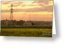 Power Lines Greeting Card