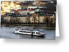 Prague By The Water Greeting Card