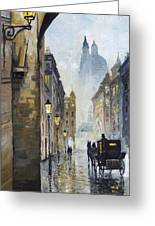 Prague Old Street 01 Greeting Card
