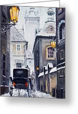 Prague Old Street 02 Greeting Card by Yuriy  Shevchuk