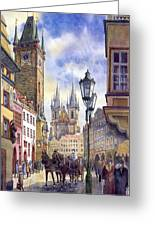Prague Old Town Square 01 Greeting Card