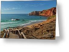 Praia Do Amado, Portugal Greeting Card