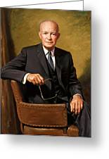 President Dwight Eisenhower Painting Greeting Card
