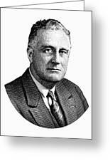 President Franklin Roosevelt Graphic  Greeting Card