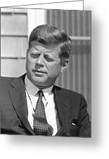 President John Kennedy Greeting Card