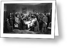 President Lincoln's Deathbed Greeting Card