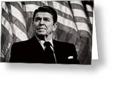 President Ronald Reagan Speaking - 1982 Greeting Card