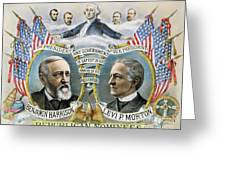 Presidential Campaign, 1888 Greeting Card