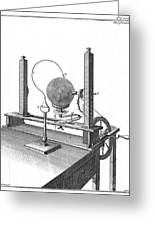 Priestleys Electrostatic Machine, 1775 Greeting Card