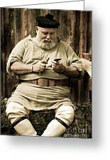 Primitive Man Greeting Card