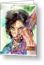 Prince Rogers Nelson Portrait Greeting Card