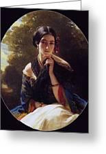 Princess Leonilla Of Sayn-wittgenstein Franz Xavier Winterhalter Greeting Card