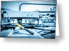 Print Screening Metal Machine. Greeting Card