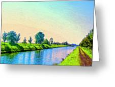 Provence Canal Greeting Card