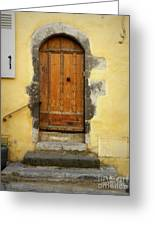 Provence Door Number 6 Greeting Card