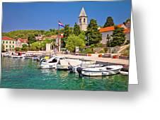 Prvic Luka Island Village Waterfront View Greeting Card