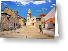 Prvic Sepurine Stone Architecture View Greeting Card