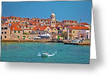 Prvic Sepurine Waterfront And Stone Architecture View Greeting Card