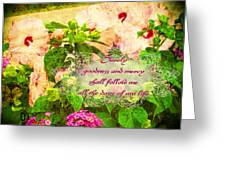 Psalm 23 6 Greeting Card