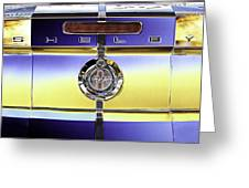 Psychedelic Shelby Ford Mustang Trunk Lid And Badge 4 Greeting Card