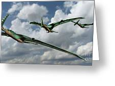 Pterodactyls In Flight Greeting Card