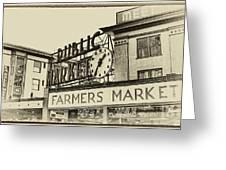 Public Market Greeting Card