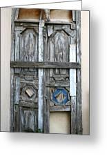 Puerta De Madera . Greeting Card