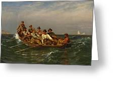 Pull For The Shore Greeting Card
