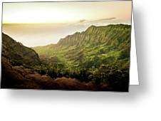 Puu O Kila Lookout, Kauai, Hi Greeting Card